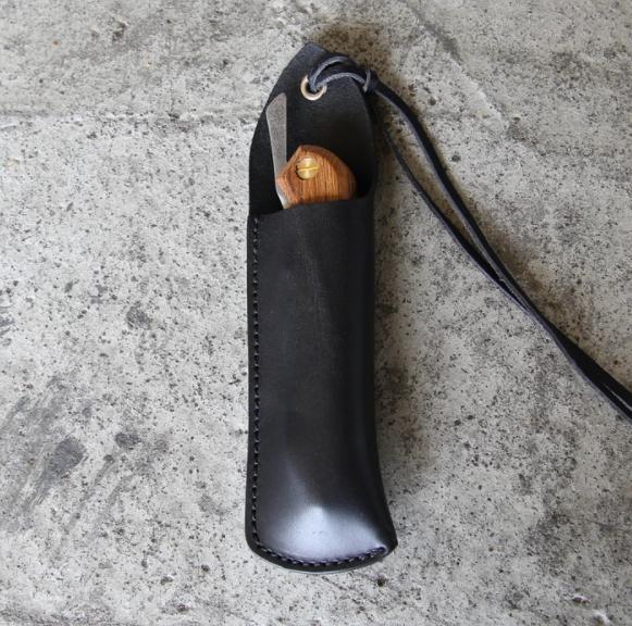 ナイフレザーケース(Folding、折畳式料理ナイフ専用) 黒
