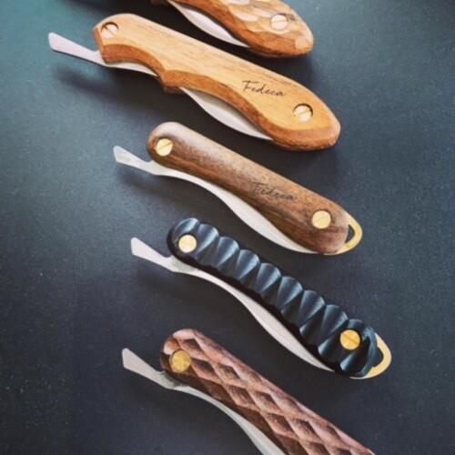 【FEDECA】ヤマ飯ナイフ   (ハンドル3種:イペ・名栗イペ・ブラック(積層強化木)