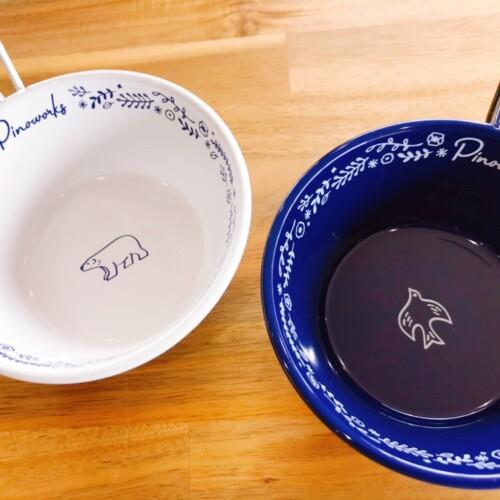 【PINOWORKS】「Hirune Cup」ホワイト(白熊)/ネイビー(鳥)