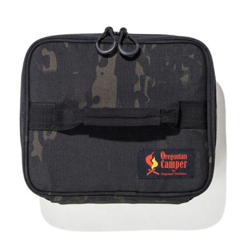 セミハードギアバッグ M-FLATサイズ(ブラックカモ/ウルフブラウン)