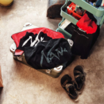 【NANGA】LOGO FACE TOWEL/(RED×BLK:4938101057646)(FOREST×BLK:4938101057653)